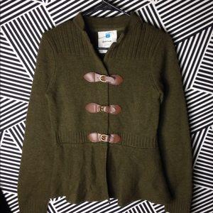 Anthropologie x Sparrow lambs Wool buckle sweater
